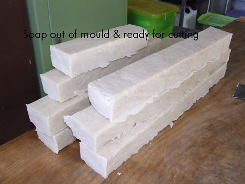Speciality soap bars pre cut ex mould