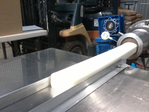 Speciality soap bars extrusion ready for cutting
